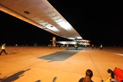 Solar Impulse 2 coming to a stop at GYR