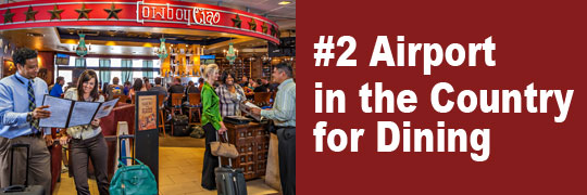 #2 Airport in the Country for Dining