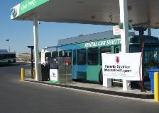Rental Car Center Bus at CNG Fueling Facility