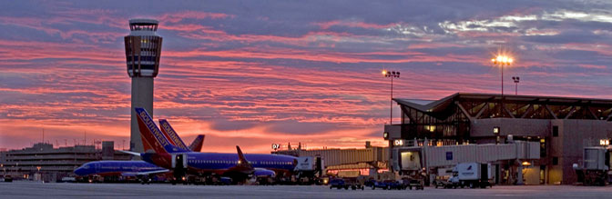 Phoenix Exterior photo with Southwest Airlines aircraft