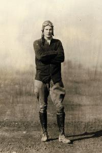 Early Pilot 1920s with boots and jaupers