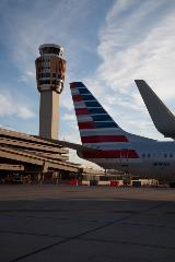 Phoenix Sky Harbor International Airport aircraft and tower
