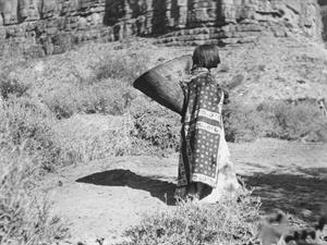 Havasupai Woman Carrying a Kathak Burden Basket, courtesy of The Grand Canyon National Park Museum