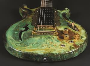 Scott Walker, 'Santa Cruz' patina-finished guitar
