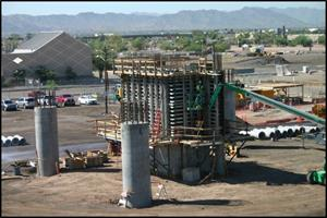 Construction of the PHX Sky Train® Stage 2 in 2018.