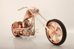 Paul Yaffe, The Copper Chopper, 2011, custom built motorcycle