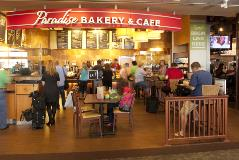 Paradise Bakery is a leading brand in the bakery and café industry. You can count on delicious freshly-baked cookies, muffins, brownies, croissants, quiches, breads, soups, salads, sandwiches and more. All menu items are prepared daily.