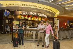 Wildflower believes success comes down to three things – outstanding food, great service and clean restaurants. The restaurant offers an array of breakfast, lunch and dinner options from fresh breads and pastries to hearty sandwiches and healthy salads.