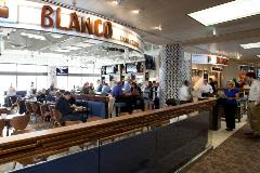This casual, contemporary restaurant serves gourmet Mexican specialties such as tacos, fajitas, and cheese crisps in addition to breakfast burritos. Blanco also has a full bar serving unique tequilas, sangria and more.