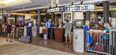 Chelsea's Kitchen is located pre-security in Terminal 4, offering a gluten-free menu of American and Southwestern dishes.