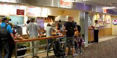 Offering burgers, salads, chicken and frosty milkshakes to satisfy any traveler's appetite!