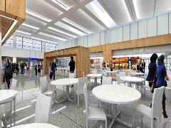 Terminal 3 interior--restaurants and retail